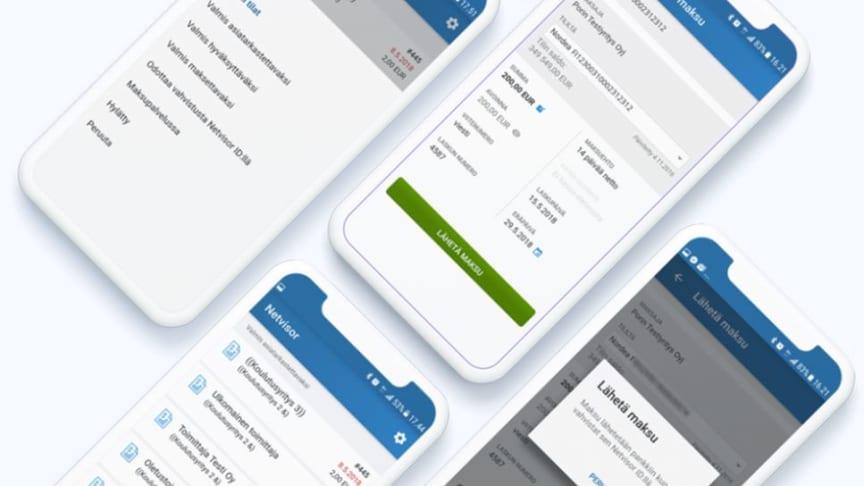 Visma Manager -mobiilisovelluksella voi tarkistaa, tiliöidä, hyväksyä ja maksaa ostolaskuja suoraan mobiililaitteella.