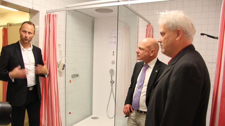 CSK installerar framtidens duschar