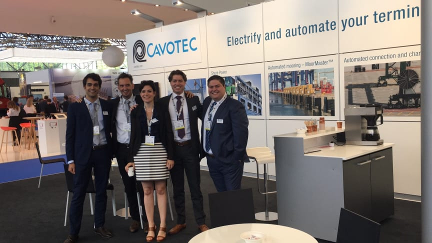 Ready to engage: the Cavotec team at TOC Europe.