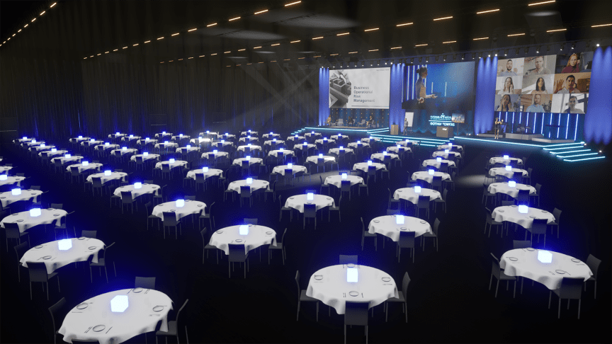 ​The Hybrid Event Arena is Sweden's largest studio solution for hybrid meetings. With three stages and various flexible spaces, the arena is designed to provide a great shared experience for both physical and digital participants.
