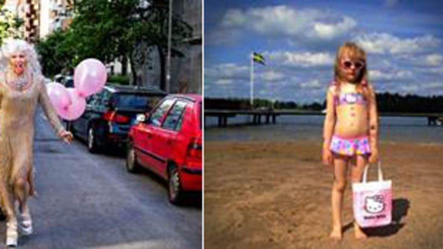 Stockholmsbilder med mångfald på Arlanda och i Pride Park