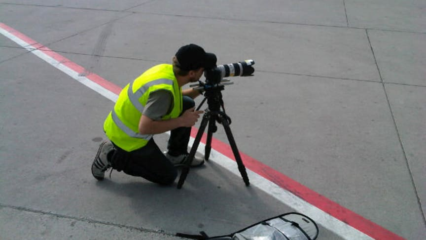 Our cameraman applying a steady hand #Cavotecfilm