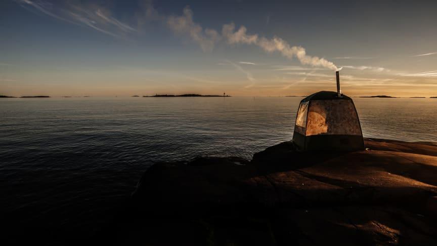 Bastu på egen ö i skärgården föll tyska juryn i smaken (Foto: Johnny Karlsson )