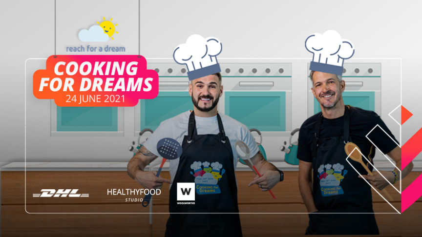 Celebrity chefs J'Something and David Higgs will be Cooking for Dreams with Discovery Vitality and Reach For a Dream