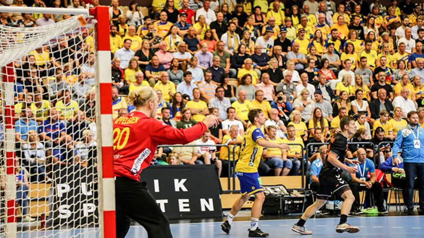 Det svenska handbollslandslaget för herrar möter Ryssland i Halmstad Arena den 6 januari.