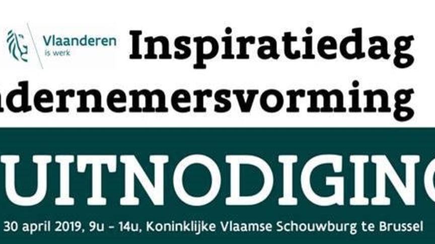 De Inspiratiedag Ondernemersvorming vindt plaats op 30 april 2019 in de Koninklijke Vlaamse Schouwburg.