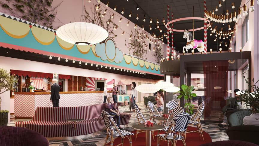 Design och inredning är inspirerad av Tivoli