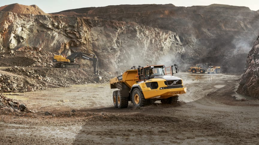 Volvos största ramstyrda dumper: maximal tillgänglighet med nya A60H