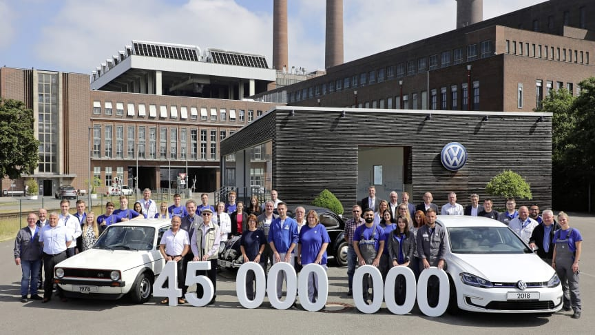 Volkswagens fabrik i Wolfsburg har siden 1945 produceret 45 millioner biler.