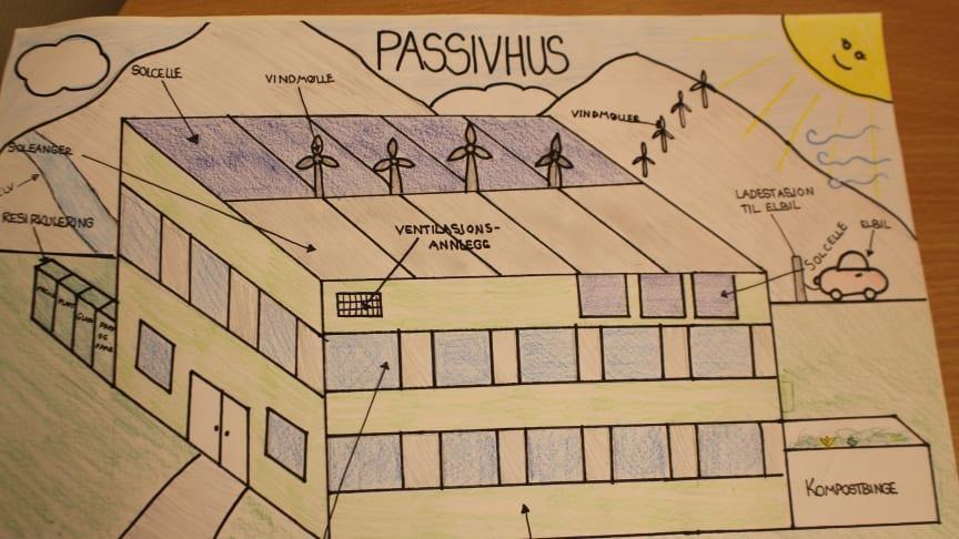 Tegning av passivhus