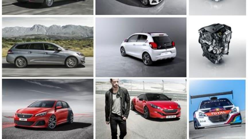Peugeot på bilsalongen i Genève: Premiär för 108, 308 SportWagon och nya motorer