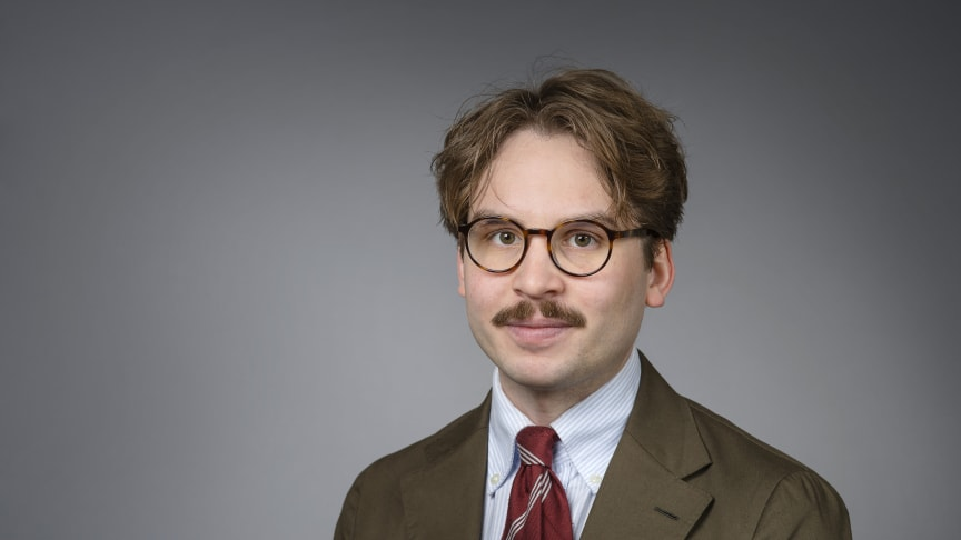 Klas Holmgren, doktorand i kirurgi vid Umeå universitet. Foto: Mattias Pettersson.