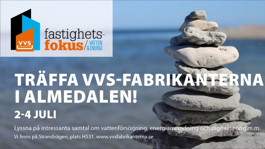 Tillsammans med VVS-fabrikanterna diskuterar vi Energi- och Vattenbesparing i Almedalen 2018