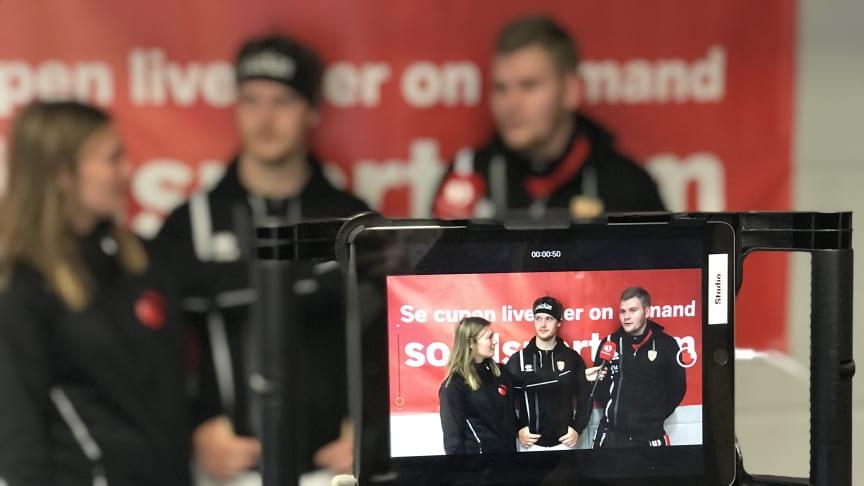 Solidsport Broadcaster gör det enkelt att sända live.