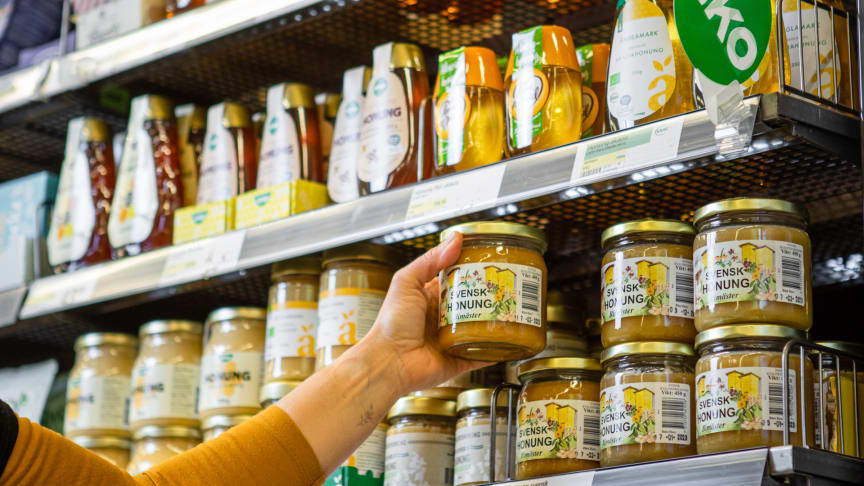 74 procent av konsumenterna köper sin honung i livsmedelsbutik. Foto: Torbjörn Lagerwall