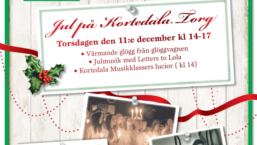 Jul på Kortedala Torg  - 11 dec kl 14-17