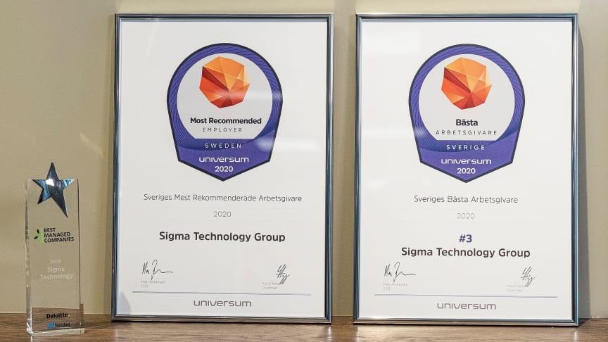 Sigma Technology Group rankas som Sveriges mest rekommenderade arbetsgivare av Universum.
