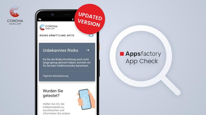 Appsfactory App Check: Update der Corona-Warn-App für zuverlässige Covid-19 Warnungen