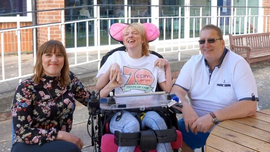 Sarah, Vicky and Malcom Lilly who are celebrating the donation for CPM