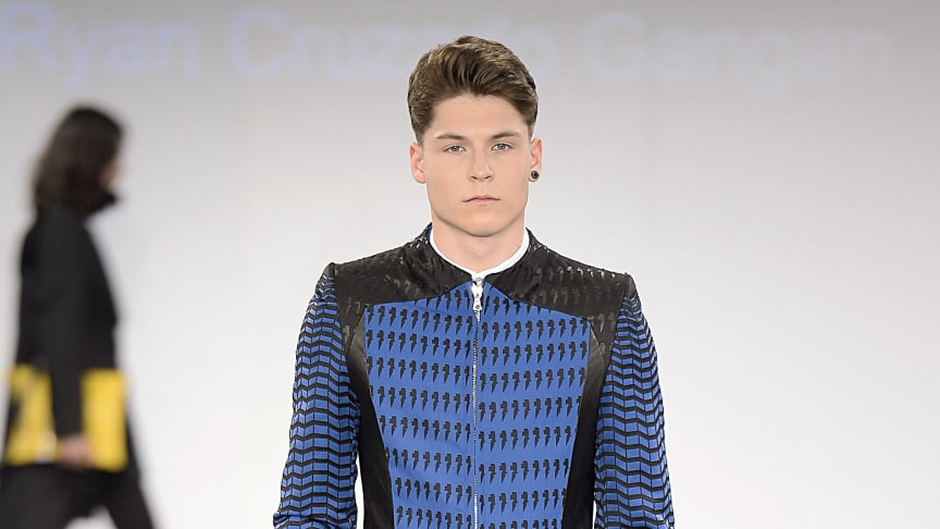Outfits designed by Fashion graduate Ryan at the Graduate Shows 2015