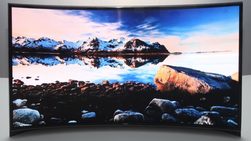 Samsung introduserer verdens første bølgede OLED TV på CES 2013