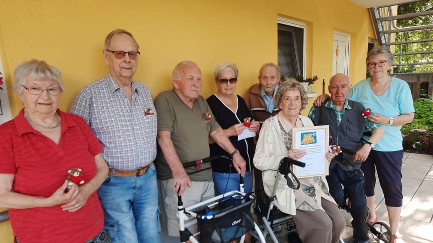 Familien Oßwald, Gappel, Ramm und Lampe sowie Eberhard Seidel (nicht im Bild) sammeln Spenden für Bärenherz