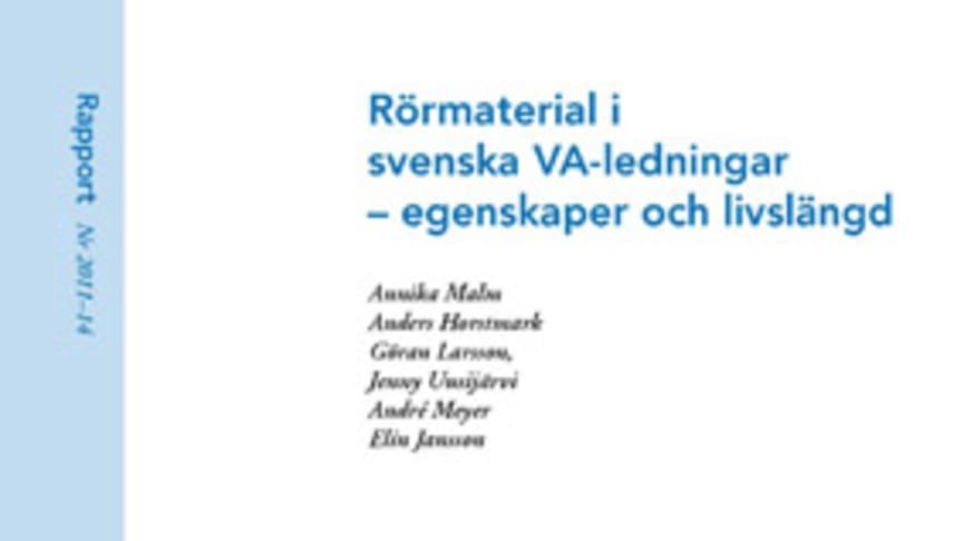 SVU-rapport 2011-14: Rörmaterial i svenska VA-ledningar – egenskaper och livslängd
