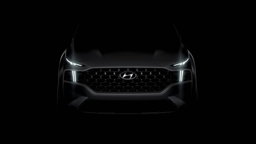 Första teaser-bilden av nya Santa Fe. Hyundais SUV-ikon som nu även blir elektrifierad.