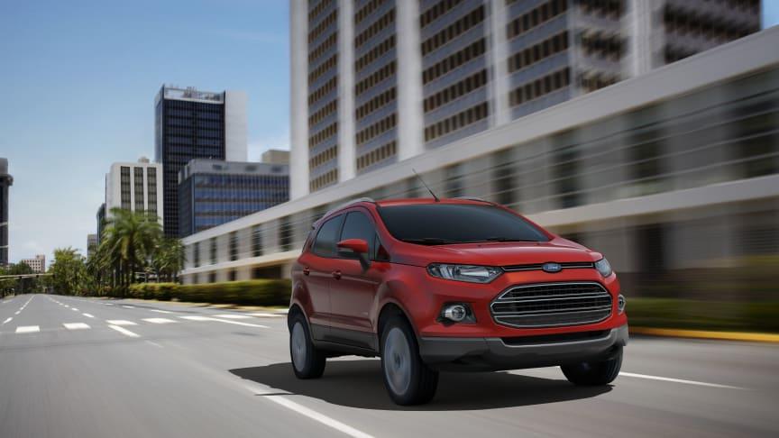 Ford presenterar nya EcoSport i Europa – en flexibel och rymlig SUV med praktiska småbilsegenskaper