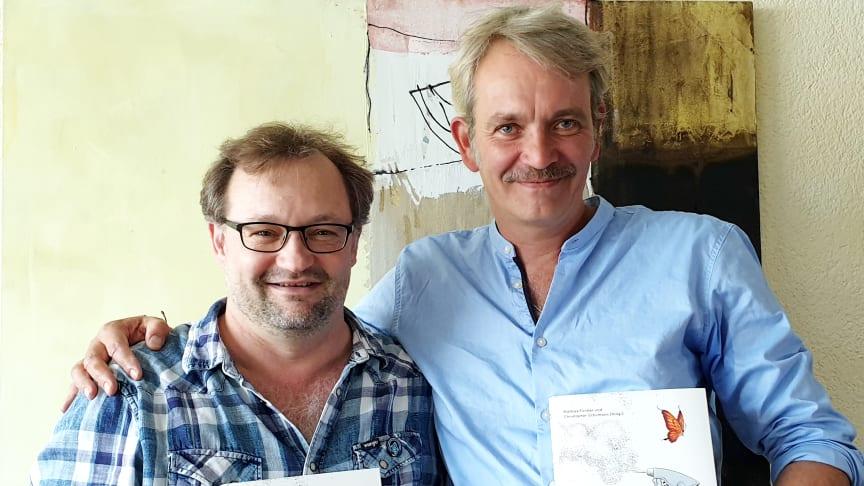 Mathias Forster und Christopher Schümann, Herausgeber des Buches ‹Das Gift und wir› (Foto: Bio-Stiftung Schweiz)