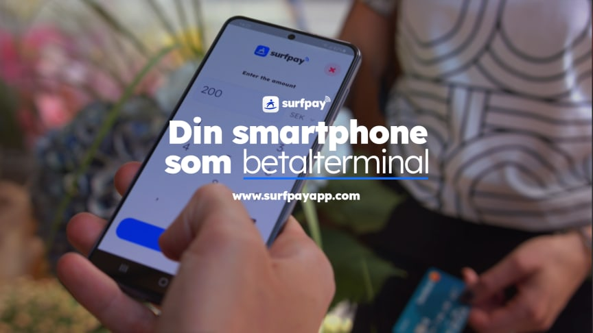 Med hjälp av Surfpay kan handlaren använda sin egna smartphone som betalterminal och acceptera kontaktlösa kortbetalningar direkt på mobilen