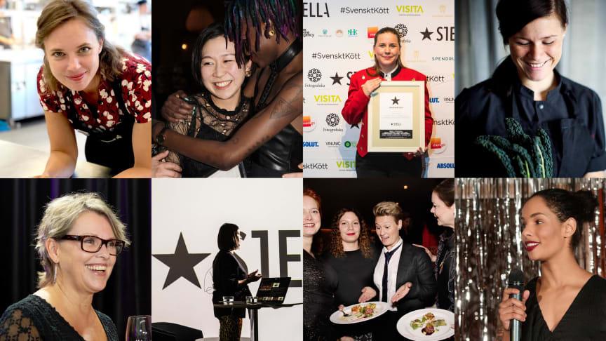 Stellagalans vinnare, nominerade och jurymedlemmar: Titti Qvarnström, Saori Ichihara, Frida Nilsson, Elvira Lindqvist, Pernilla Elmquist, Sofia B Olsson, Marie Skogström och Josephine Sondlo.