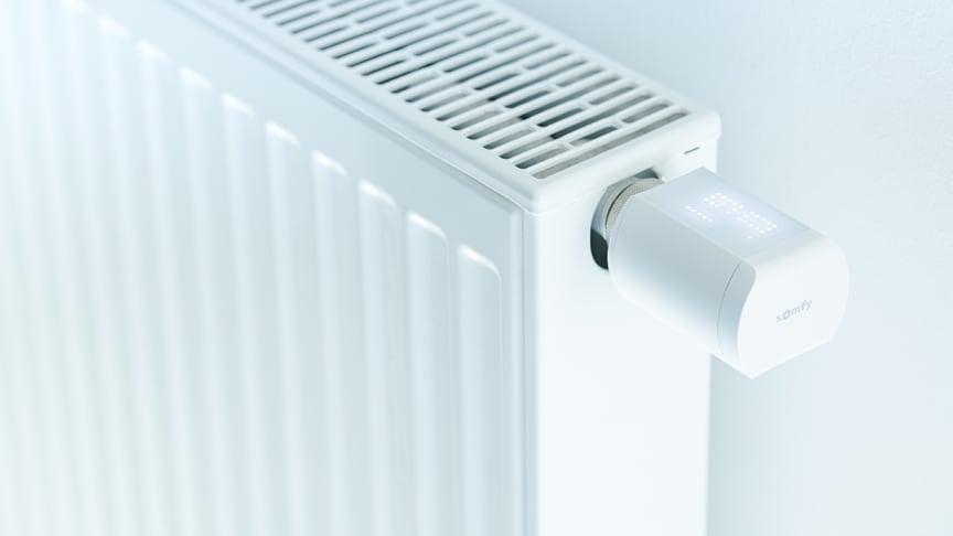 Ny radiatortermostat från franska Somfy, Thermostatic Valve io