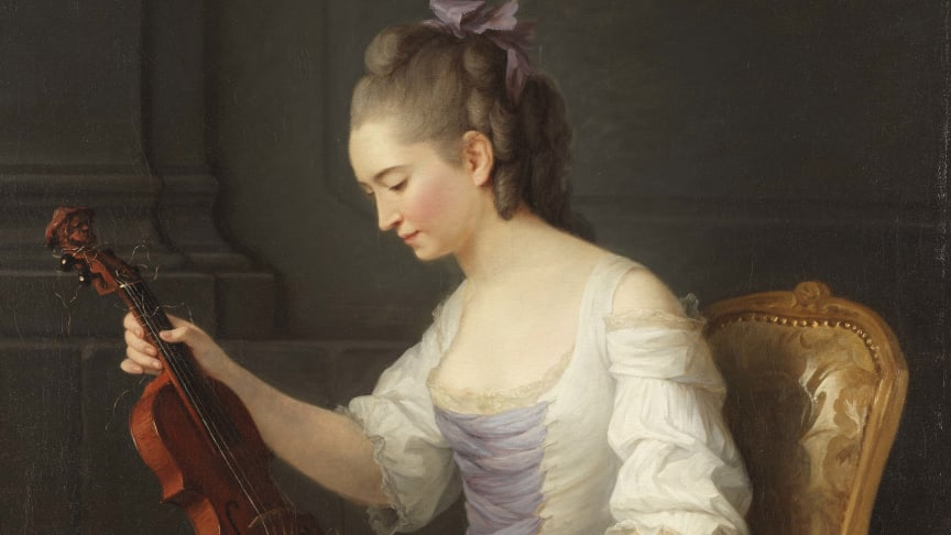 New acquisition: Anne Vallayer-Coster's painting of a female violinist