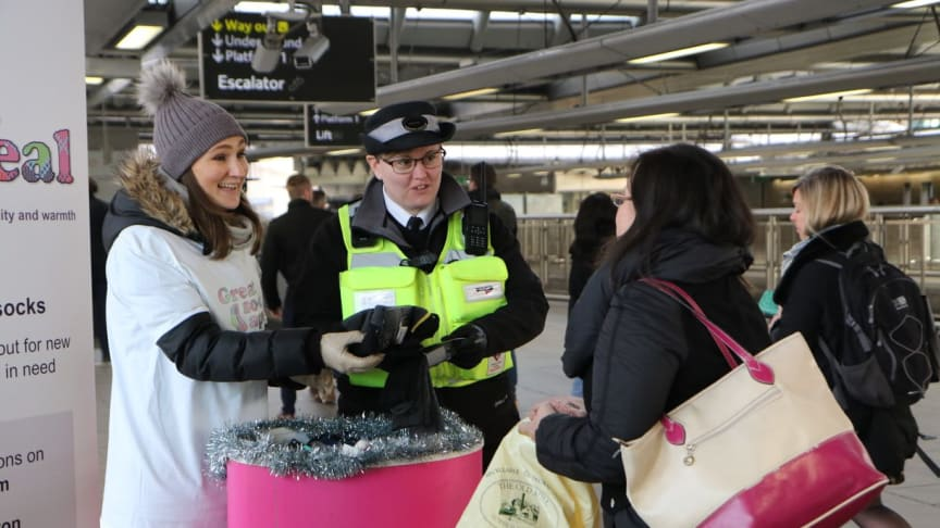 Sock collections took place across the Govia Thameslink Railway network