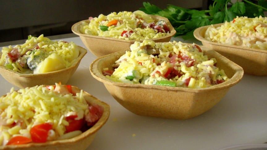 Füllett, die bio-vegan gebackenen Cups für den Cateringbedarf