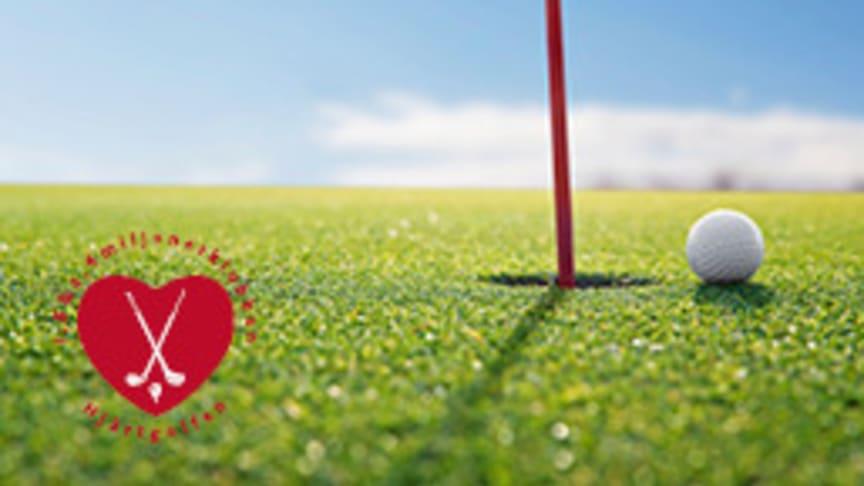 Den årliga hjärtgolfen pågår den 19 maj - 11 augusti runtom i landet.