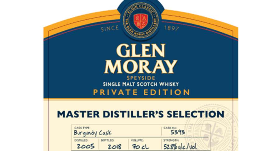 Glen Moray Private Edition Millesimé 2005 Burgundy Cask släpps den 28:e februari.