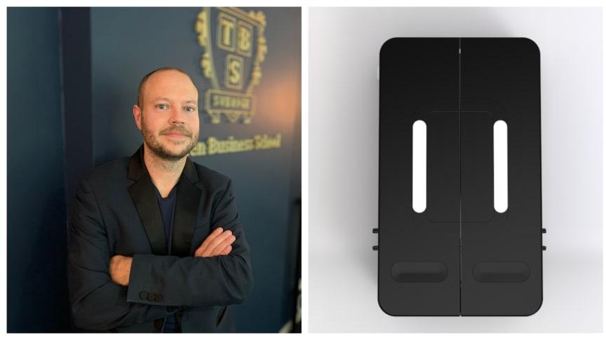 Rektor Mattias Byström är stolt över att kunna erbjuda eleverna på Thoren Business School och Yrkesgymnasiet i Umeå gratis mensskydd.