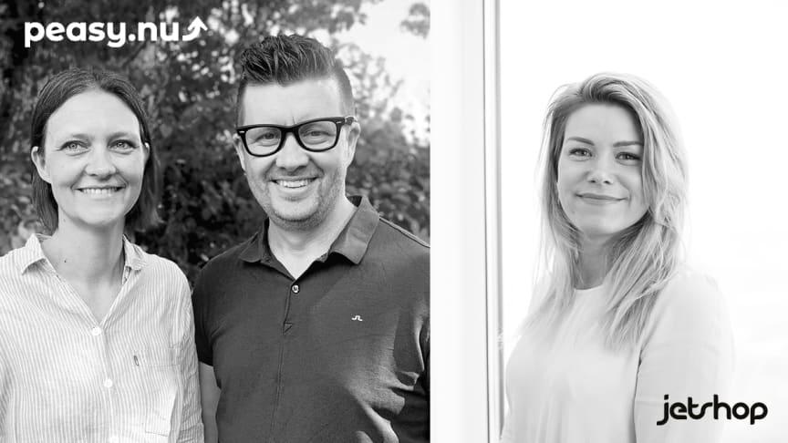 Ida Turesson och Pål Brattberg, Peasy.nu och Maria Gustavsson, Jetshop