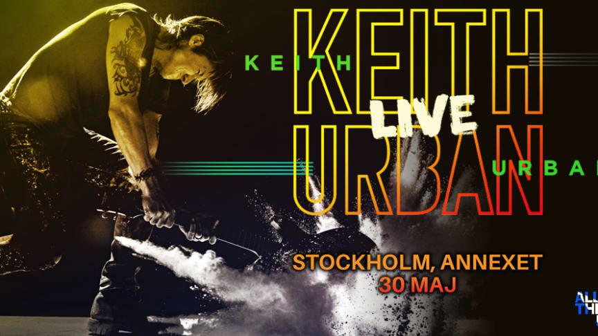 Keith Urban till Sverige den 30 maj - spelar på Annexet i Stockholm!