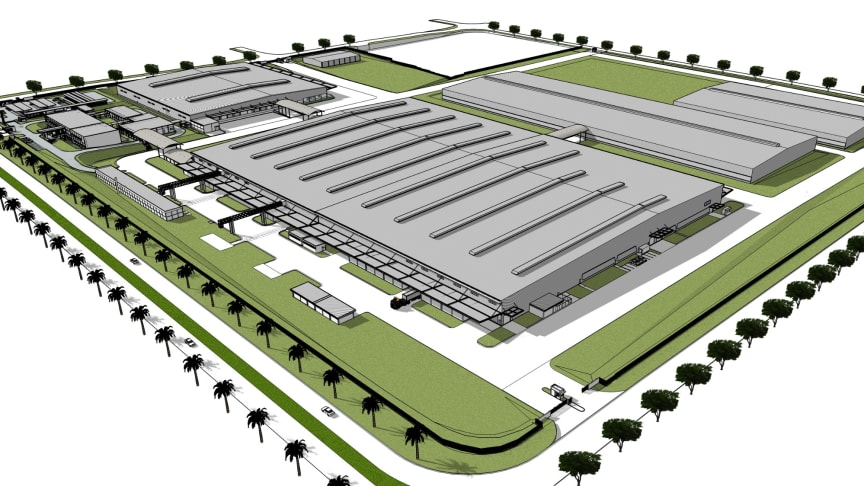 Image of the completed YMPH new plant building scheduled to start operation from July 2020