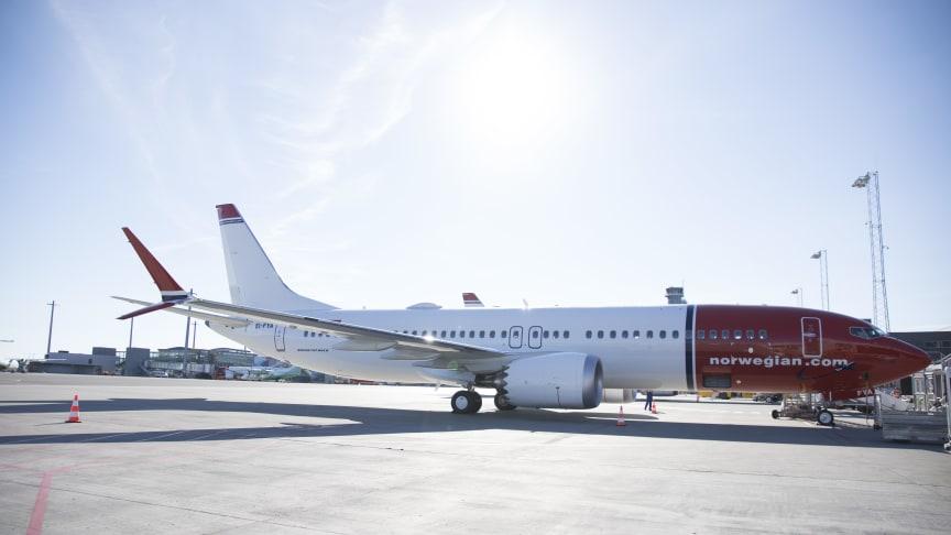 Norwegians første Boeing 737 MAX landet