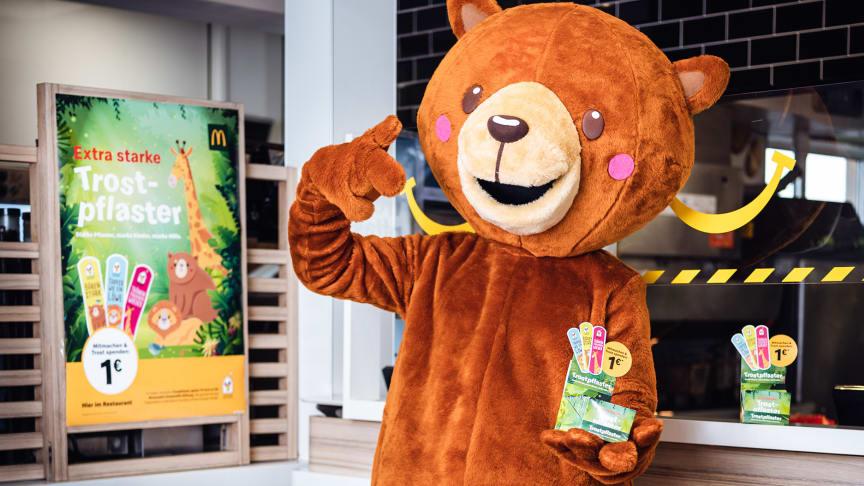 """McDonald's zeigt soziales Engagement mit einem bärenstarken Comeback der """"Trostpflaster"""" Charity-Aktion"""