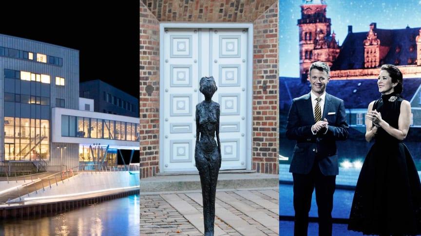 Musikhuset Holstebro, Alberto Giacomettis 'Kvinde på kærre' og Kronprinsparret fotograferet af Jakob Boserup ved sidste års prisuddeling