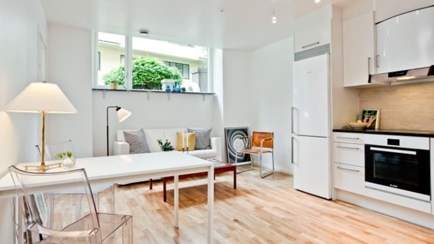 Fyra exklusiva lägenheter till salu på Strindbergsgatan 53 på Gärdet, Östermalm