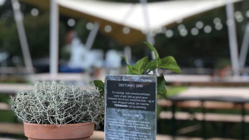 Dekton® Trilium, Kelya, Valterra och Orix som bänkskiva och bord, kan upplevas på nordens största matfestival, Food Festival, första helgen september.