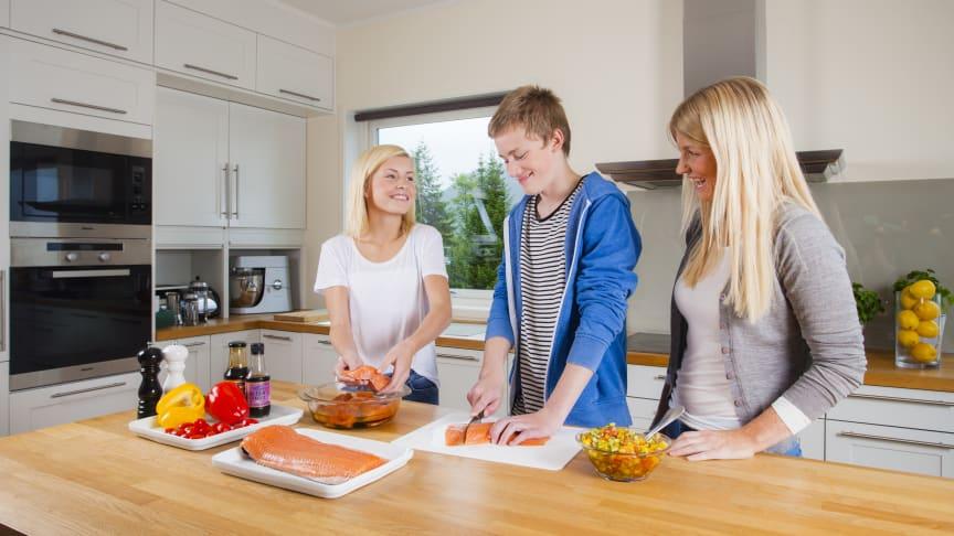 Kun 18 prosent av barn og unge spiser fisk i henhold til kostrådene, viser ny undersøkelse FOTO: Marius Fiskum/Norges sjømatråd