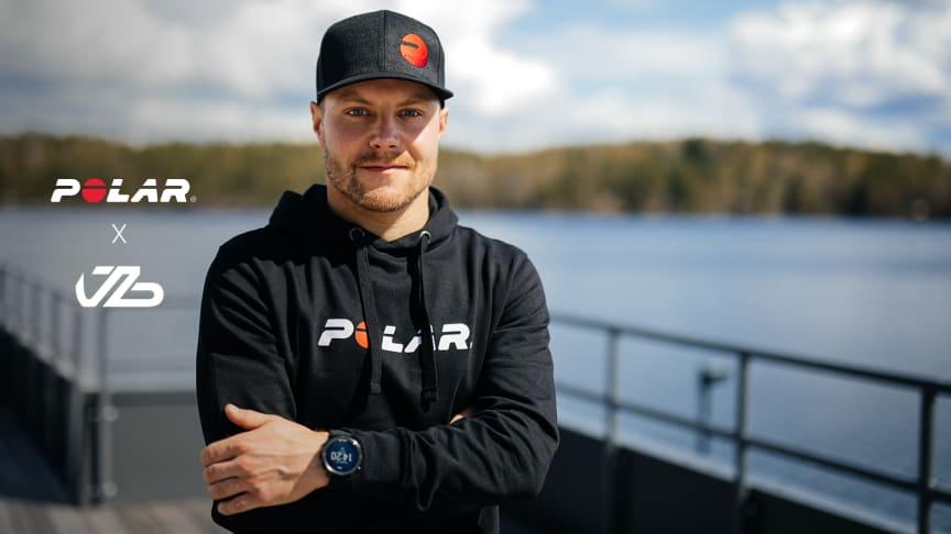 Polar on solminut maailmanlaajuisen yhteistyösopimuksen kilpakuljettaja Valtteri Bottaksen kanssa