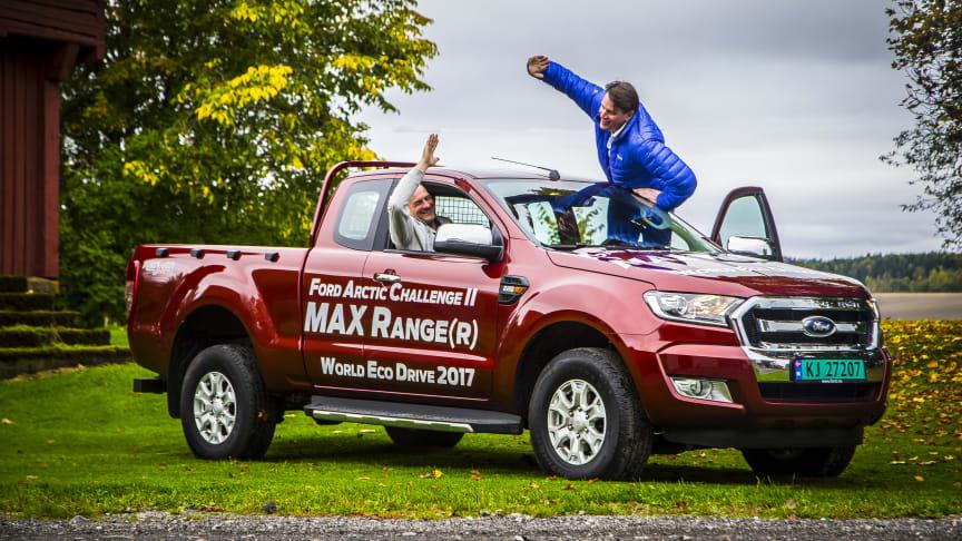 Nordmenn satte pickuprekord: Kjørte 1000 miles på en tank!